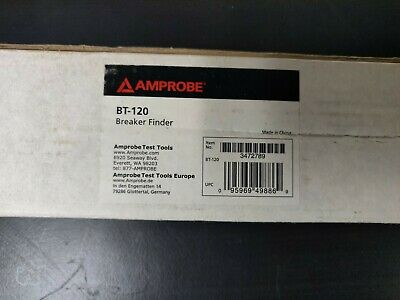 Amprobe Bt-120 Circuit Breaker Tracer Note Red Led Indicator Brand New In Box