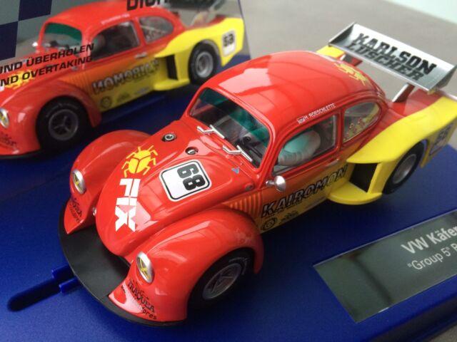 """Carrera Digital 132 30703 VW Käfer """"Group 5"""" Race 2 LICHT NEU OVP"""