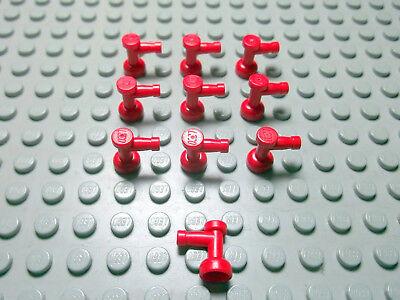 Lego 10 Wasserhähne rot 1x1  4599a offen Set 1256 1974 6543 6551