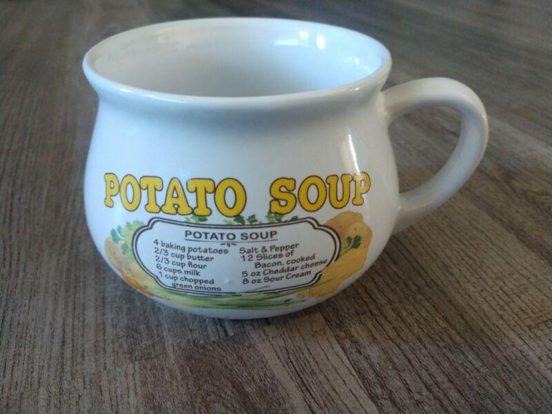 Vintage Potato Soup Recipe Mug Dat'l Do It Individual Serving Bowl Cup