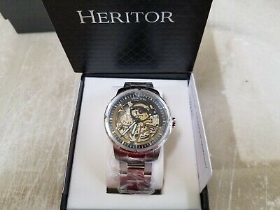Authentic Heritor Automatic Conrad Mens Watch, Silver HERHR2503