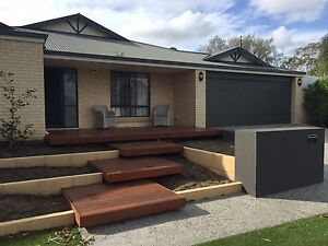 Back Yard TIMBER landscaping Mirrabooka Stirling Area Preview