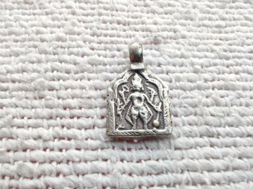 Antique Jewellery Silver Amulet Pendant Supreme Being Lord Vishnu Hand Stamp 62