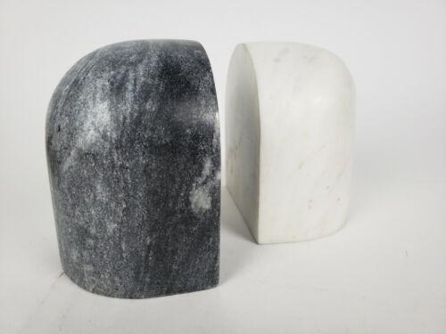 NIB Ferm Living Luru Black & White Bookends Set of 2 Solid Marble