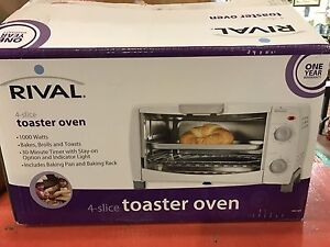 Rival toaster oven in box