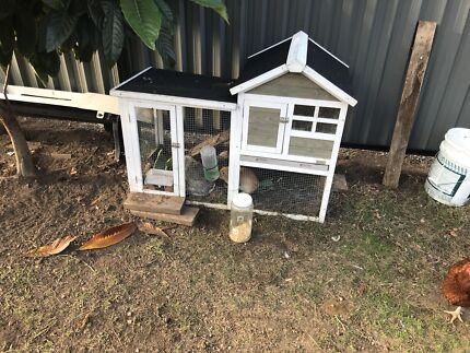 White rabbit hutch