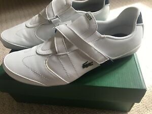 Great condition white lacoste shoes