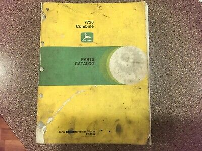 John Deere 7720 Combine Parts Catalog Manual Book Origi Pc-1667 Fast Free Ship