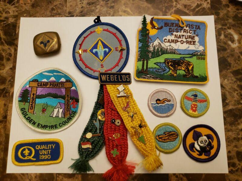 Boy Scouts Webelos Lot Badges Pins Patches Woven Ribbon Activity Camp Pahatsi