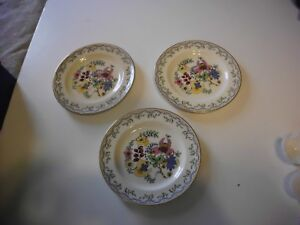 VTG PAREEK JOHNSON BROS DESSERT PLATE LOT OF 3 FANTASIO PATTERN