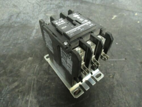 40 AMP EATON CONTACTOR C25DNF340 600 VOLTS 20 HP 50 AMP/RES **WARRANTY**
