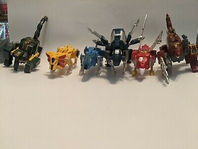 Knock off Transformers toy vintage lot of 6 WOLF DINO CHEETAH BIRD INSECTS NICE!