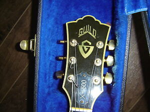 GUILD X-500 FROM THE 70s WITH OHSC, WITH  PEAVEY  AMP