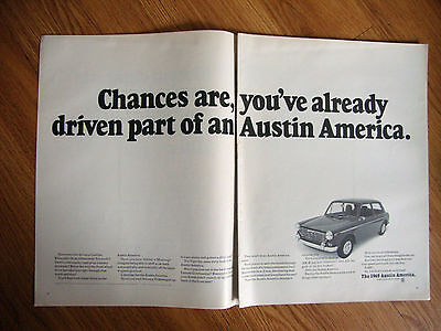 1969 Austin America Car Ad Already Driven Part of