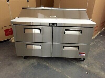 Sandwich Prep Unit With 4 Drawer 60 Table Salad Refrigerator Draw Drawers