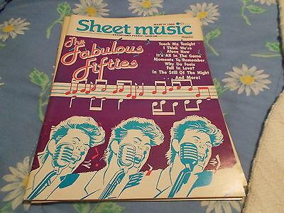 book MARCH 1988 SHEET MUSIC MAGAZINE PIANO/GUITAR THE FABULOUS FIFTIES  RARE