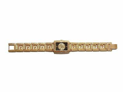 Authentic Gianni Versace medusa signature Gold plated vintage watch
