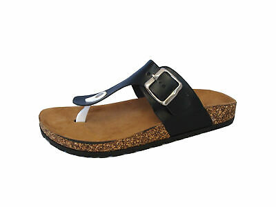 Womens' Redvolution Casual Straps Sandals Thong Flip Flop Soft Footbed Revo-02 ()
