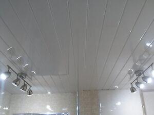 14 pvc panels white gloss v groove panels bathroom for Bathroom t g cladding