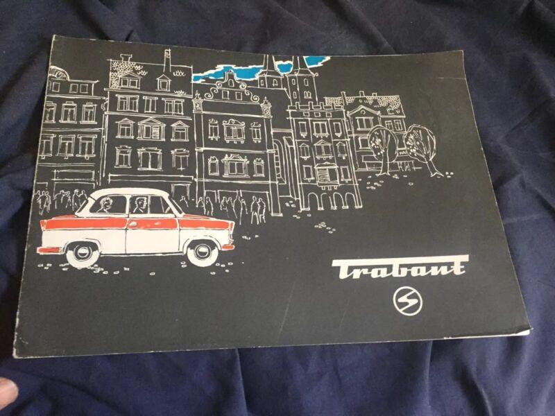 1960s Trabant Sedan Kombi Wagon Color Sales Brochure Catalog Prospekt