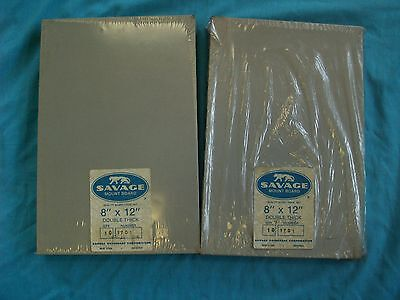 """2 packs of SAVAGE 8"""" x 12"""" Mount Board -- Double Thick -- 20 Pieces"""
