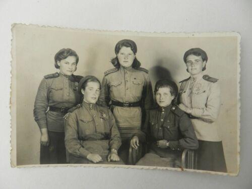 *Women In Uniform* WWII Soviet Russian Photo Red Army RKKA Lady Soldier 1945
