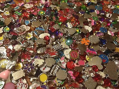 Lot of 100 Wholesale Random Floating Charms for Living Memory Lockets *US Seller (Floating Lockets Wholesale)