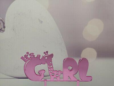 Cake Topper Caketopper Tortenaufsatz It's a girl Giraffe Acryl Geburt Junge Baby