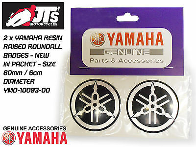 YAMAHA TANK / PANEL RAISED RESIN ROUNDAL ROUNDEL / BADGES / R1 R6 XJ x2 60mm Dia