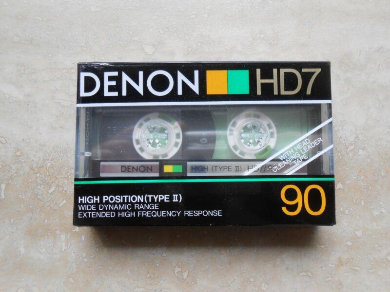 DENON HD7/90 type II blank cassette tape NEW