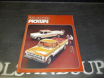 NOS '76 1976 Ford Pickups Dealer Brochure F-100 F-150 F-250 F-350 Pick Up Truck