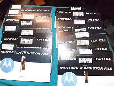 150 Nos Vintage Motorola Carbon Resistors - Popular Values