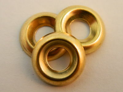 10 Brass Finishing Cup Washer Qty 100
