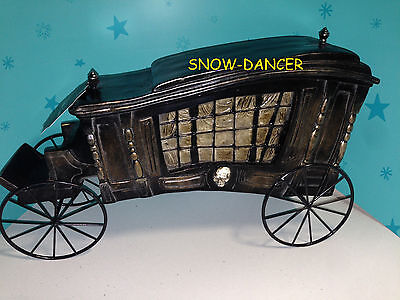 Hearse Halloween Decoration (Hearse Funeral Carriage Halloween Decoration Display Prop)