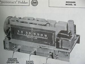 MEISSNER-4E-TUNER-RECEIVER-PHOTOFACTS-PHOTOFACT