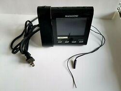 Magnasonic Alarm Clock AMFM Radio Projection MM176K Dual Alarm Temperature Works