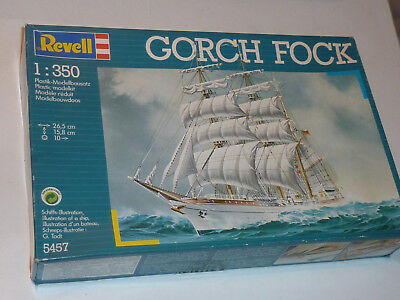 vintage REVELL 5457 1:350 MAQUETTE 1989 GORCH FOCK ship BATEAU scale BOAT