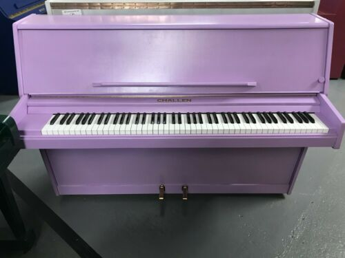 Challen 988 Upright Piano - Resprayed Lilac Case - WE CAN DELIVER THIS PIANO