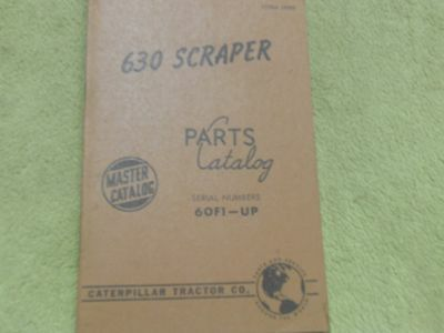 Caterpillar 630 60f1- Tractor Scraper Manual Service Parts Book