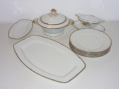 Hutschenreuther Art Deco Goldrand Rest Speiseservice Geschirr