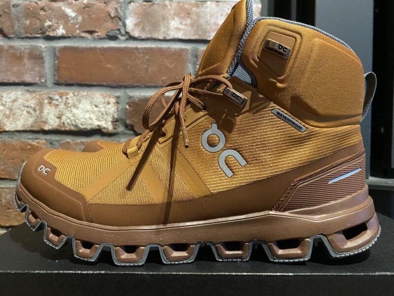 On CloudRock Womens US 8.5 Waterproof Hiking Sneaker Pecan/Rock NIB