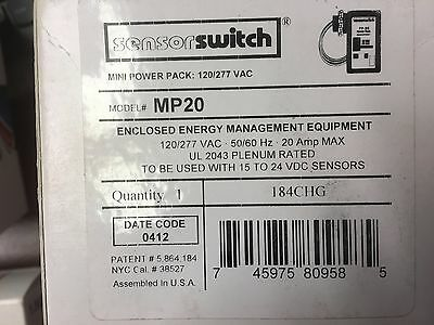 Sensor-switch-mp-20-120-277v-20a-power-pack-for-occupancy-sensors  New