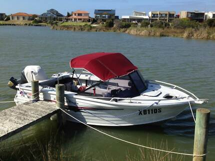 Quintrex 4.75 Coast Runner with very low hours 60 HP Yamaha 4 str Goolwa Alexandrina Area Preview