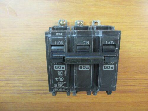 GENERAL ELECTRIC BOLT-ON CIRCUIT BREAKER 3P, 60A, CAT# THQB32060 .... L-90A