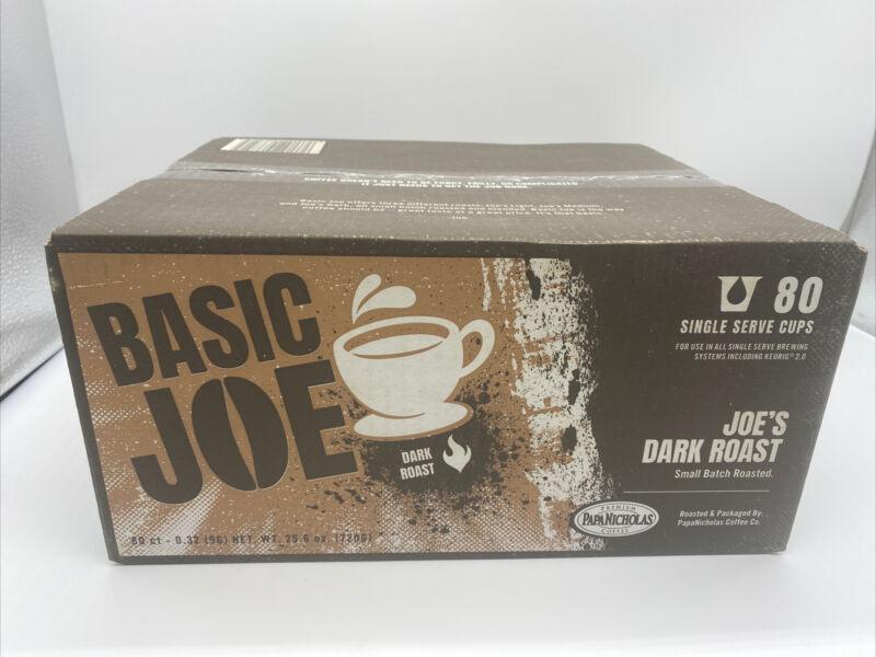 80 Ct Basic Joe Coffee 100% Arabica Dark Roast Coffee KCup Exp. 9/22