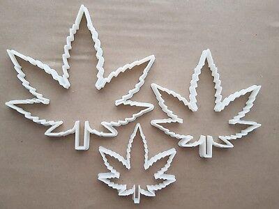 Cannabisblatt Ganja Hanf Pflanze Form Keksausstecher Teig Kekse Fondant Scharf ()
