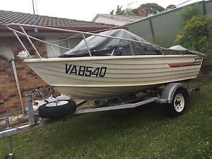 Stacer Seahawk 4.2m Boat (Tinnie) with 50HP 2-stroke Yamaha Outboard Kallangur Pine Rivers Area Preview