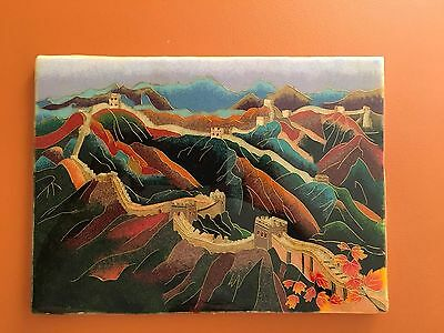 CLOISONNÉ PICTURE OF THE CHINA WALL