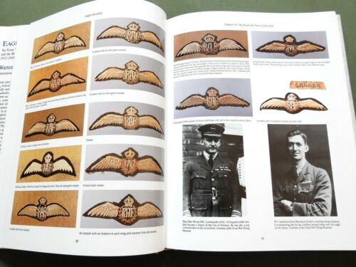 """EAGLES RECALLED"" BRITISH RAF WW2 PILOT AIRCREW WINGS INSIGNIA REFERENCE BOOK"