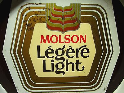 """MOLSON LEGERE LIGHT beat-up beer tray Canada 13"""" serving tray 1984"""